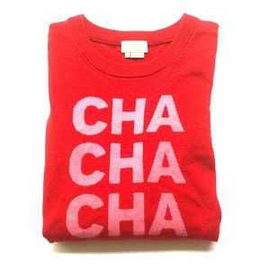 Kate Spade Cha Cha Cha Holiday Sweater Size M